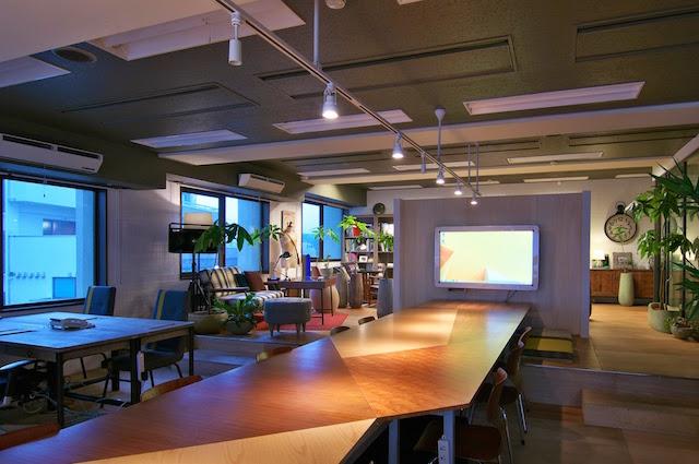 フューチャー・ワードを元に改装されたUDS代々木オフィス